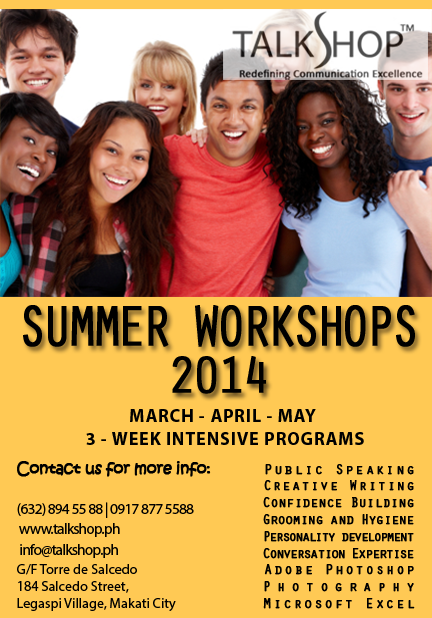 TalkShop Summer Workshops 2014