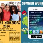 TalkShop's Summer Workshops