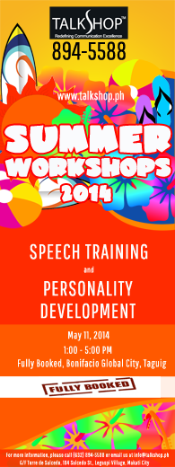 TalkShop Summer Workshops at FullyBooked