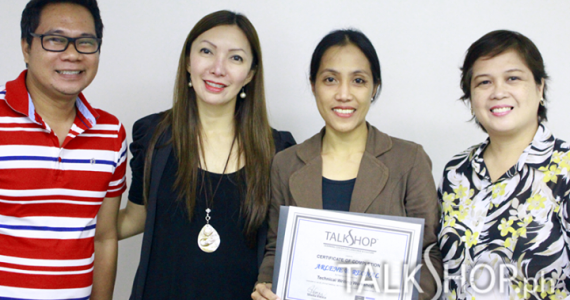 TalkShop Saturday Class and Three Graduates
