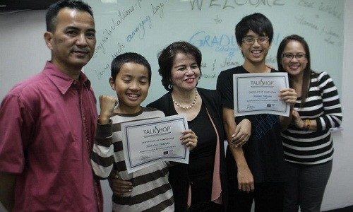 Learning at TalkShop is a Family Affair