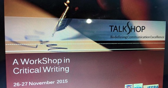 CRITICAL WRITING WORKSHOP 26-27 NOV 2015