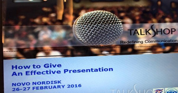 EFFECTIVE PRESENTATION WORKSHOP – 26-27 FEB 2016