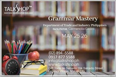 Grammar Mastery 25-26 May 2017