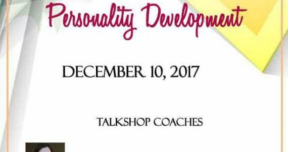 PERSONALITY DEVELOPMENT TRAINING 10DEC2017