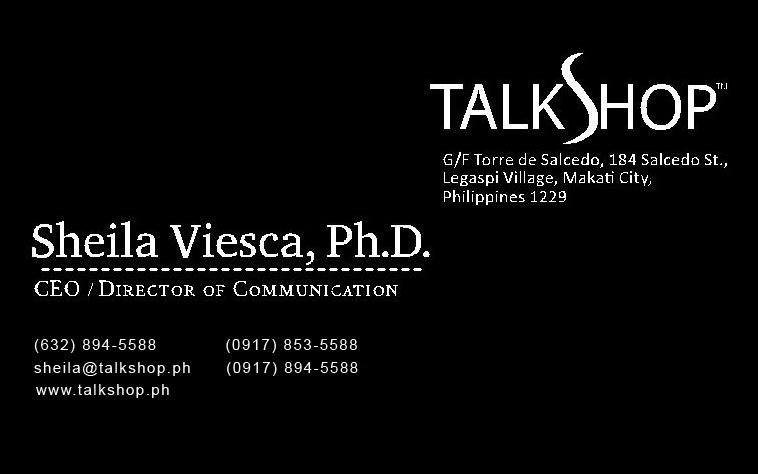 Sheila Viesca Business Card