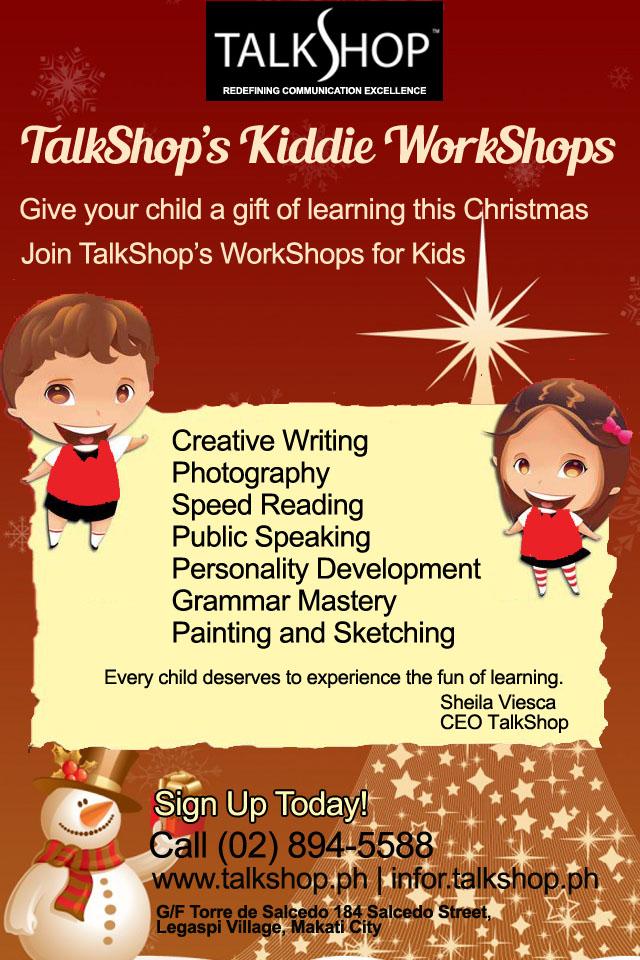 TalkShop kiddie workshop